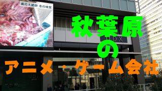 秋葉原のアニメゲーム会社サムネ