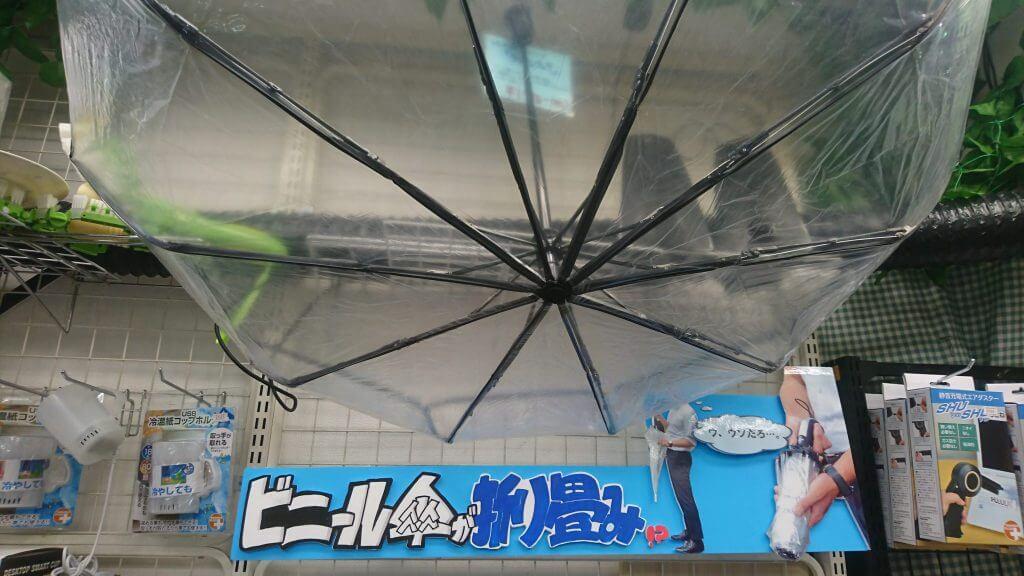 自動折り畳みビニール傘1
