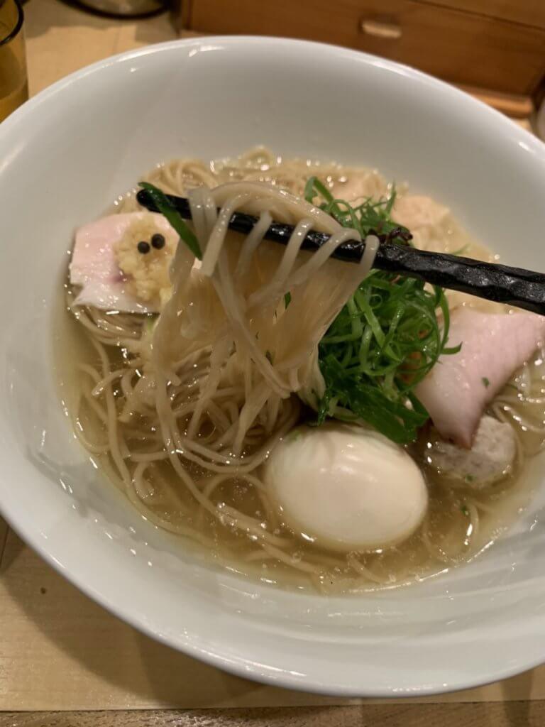 特製塩そば 細麺