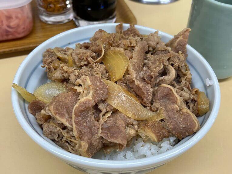 サンボの牛丼