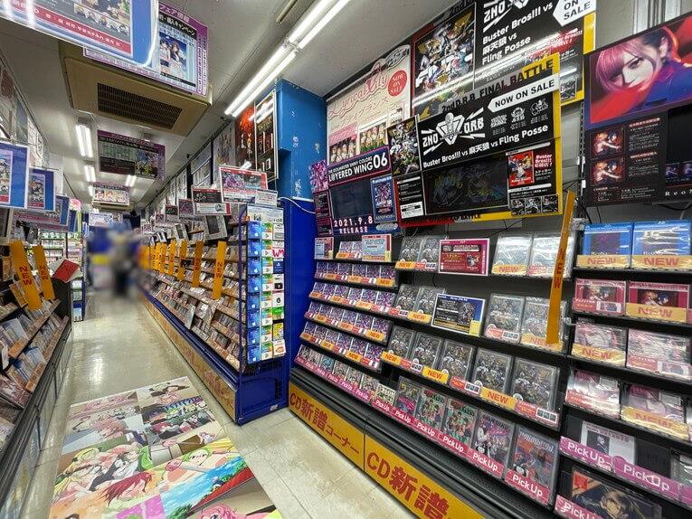 アニメイトCD売り場